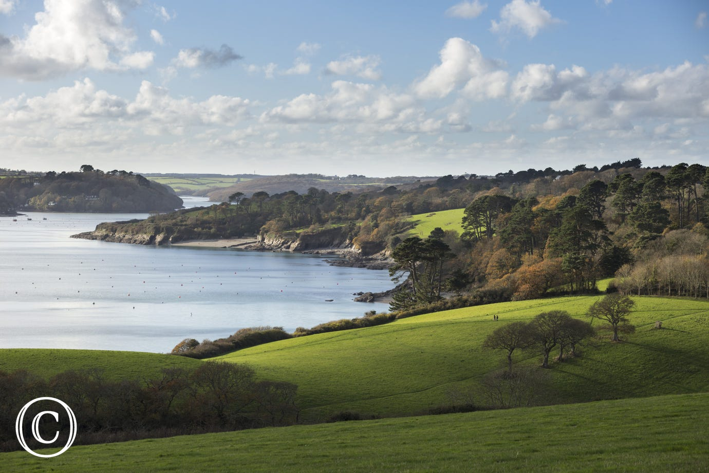 The Helford River in Cornwall on a beautiful Winter afternoon. Taken near Mawnan Smith