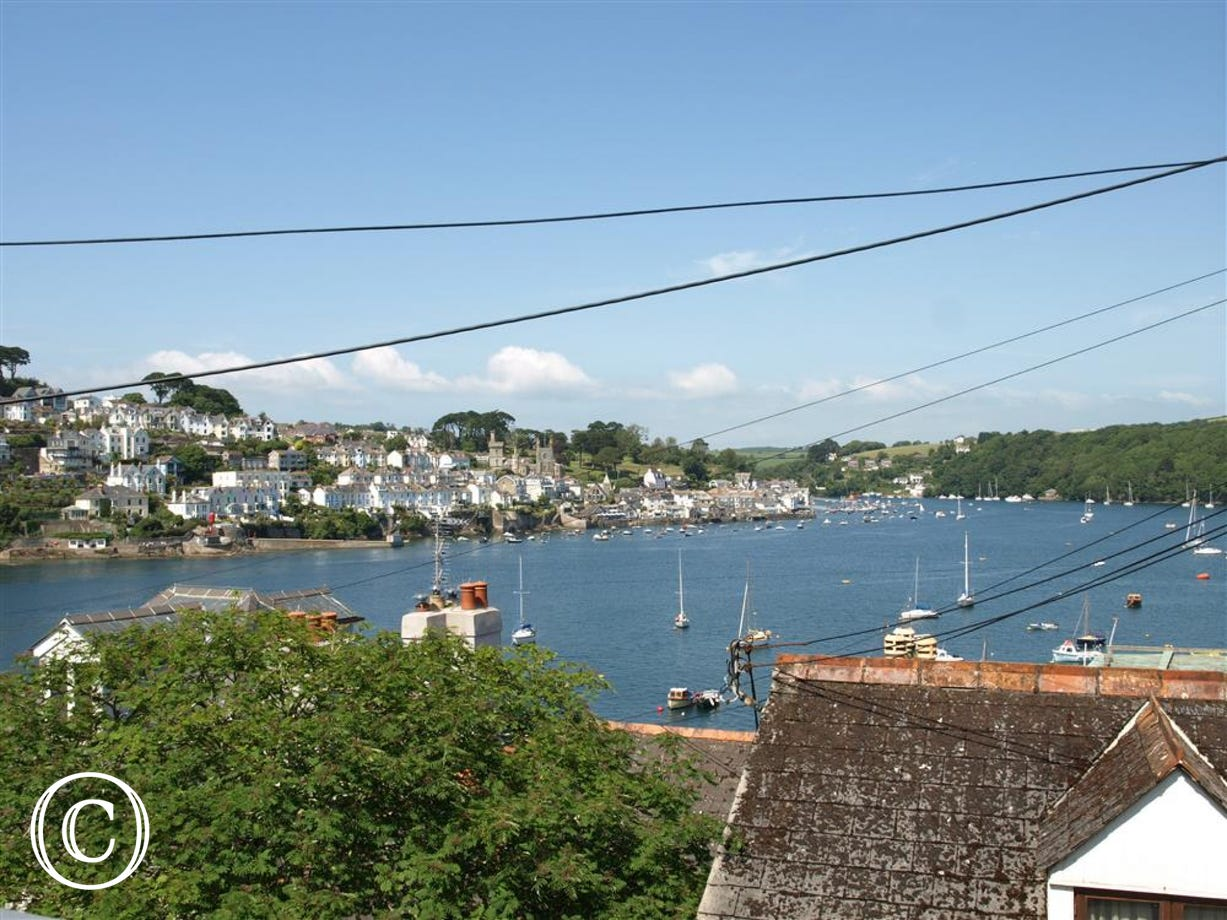 The view of the harbour from Gartree Cottage