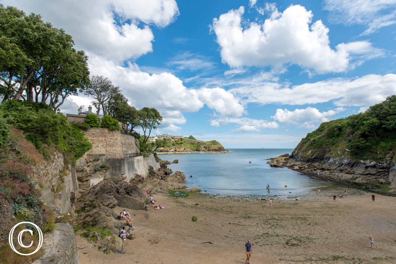 Readymoney Cove the local beach in Fowey