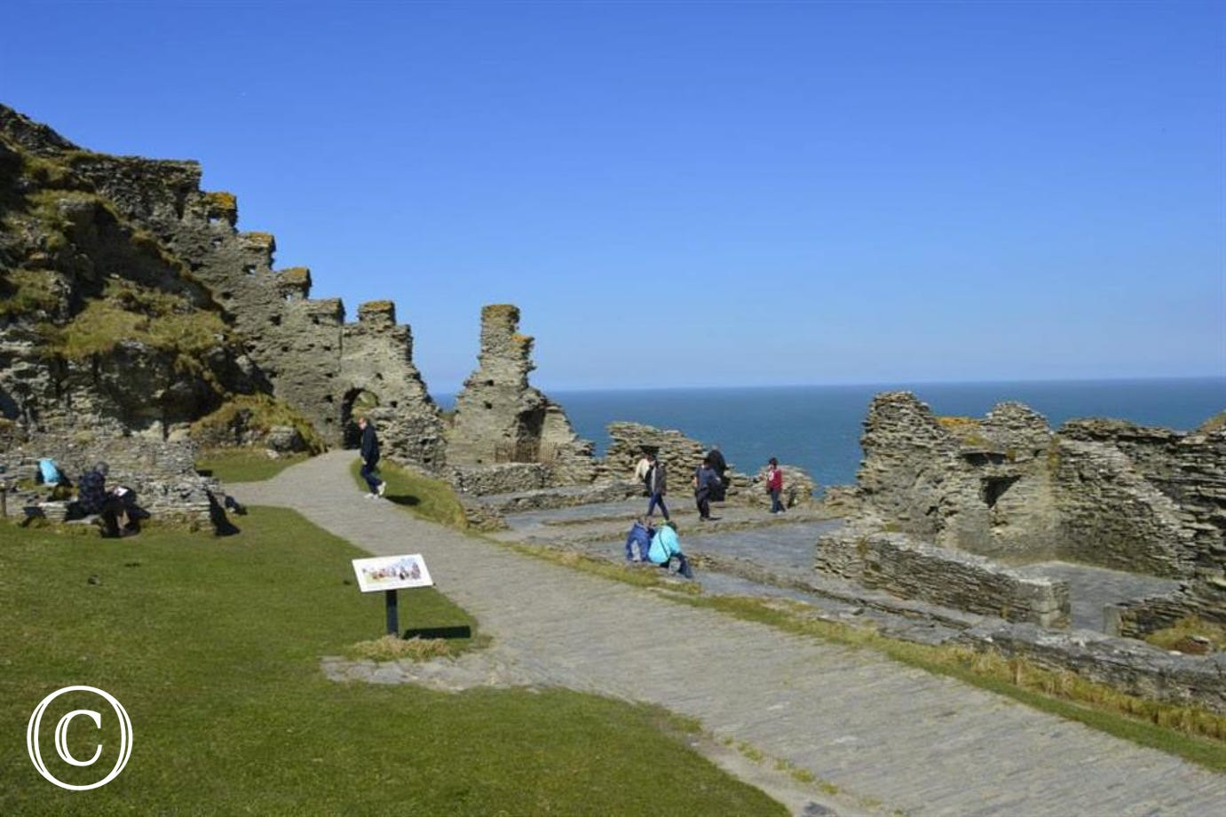 Tintagel Castle Island Courtyard & Great Hall