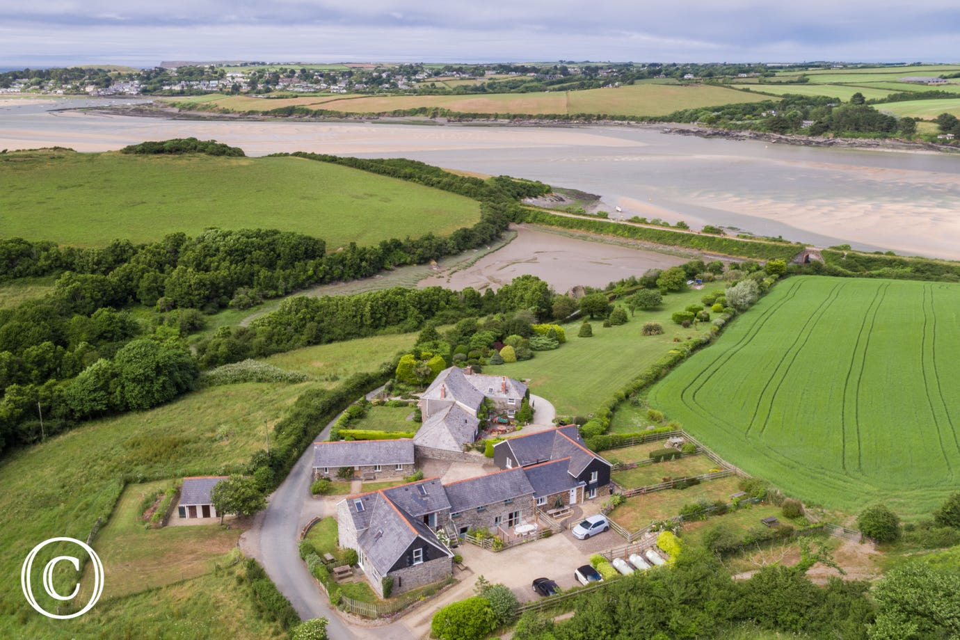 Little House is just a short step from the Camel Trail and Estuary