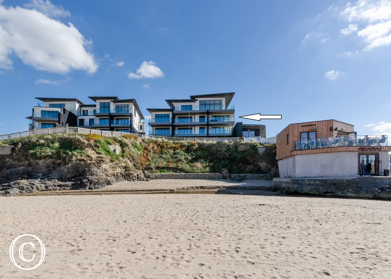 The Dunes development on Perranporth Beach