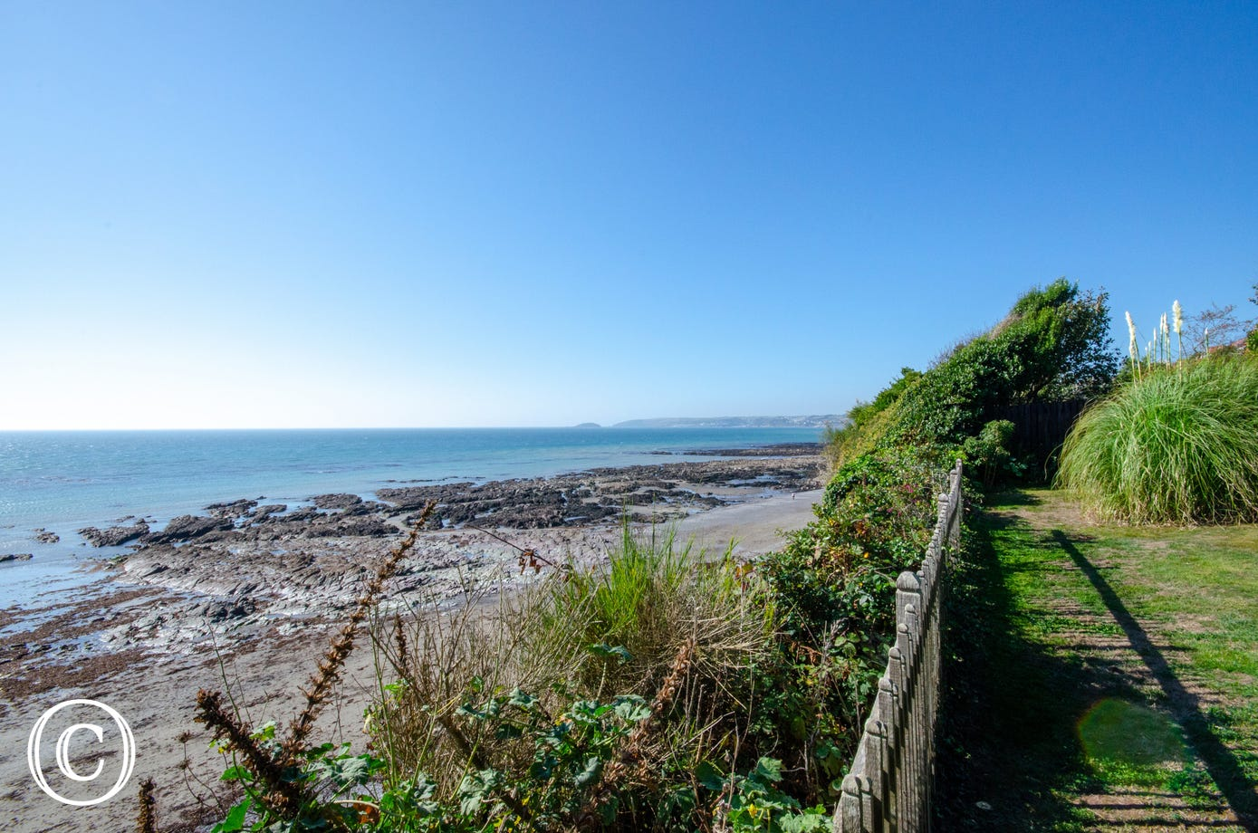 View from the garden across towards Looe and St George's Island