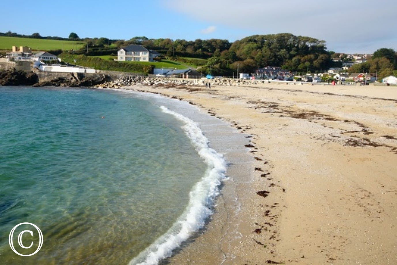 Swanpool Beach Falmouth just a short drive away