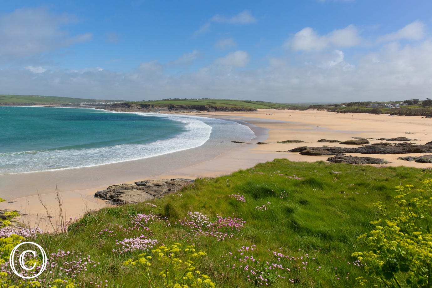 Harlyn Bay is a 6 minute drive
