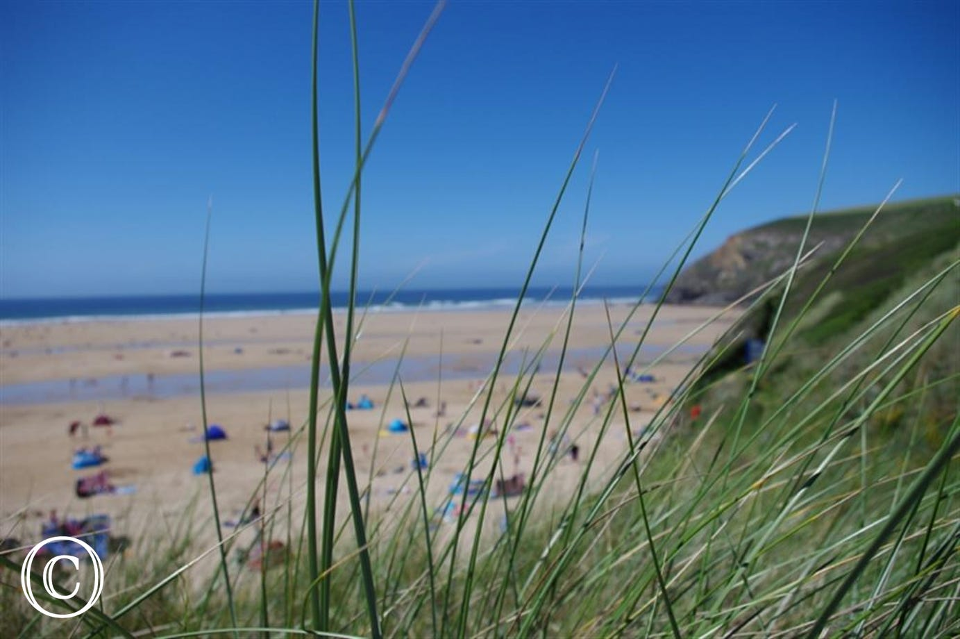 2 minutes walk to Mawgan Porth beach