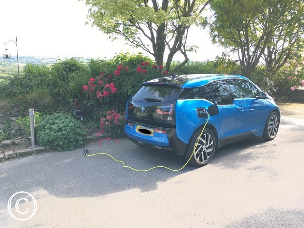 One of the electric vehicle charging points at Penrose Burden