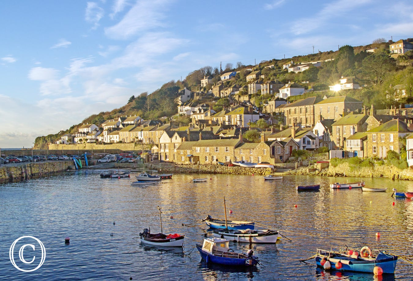Mousehole harbour in the morning