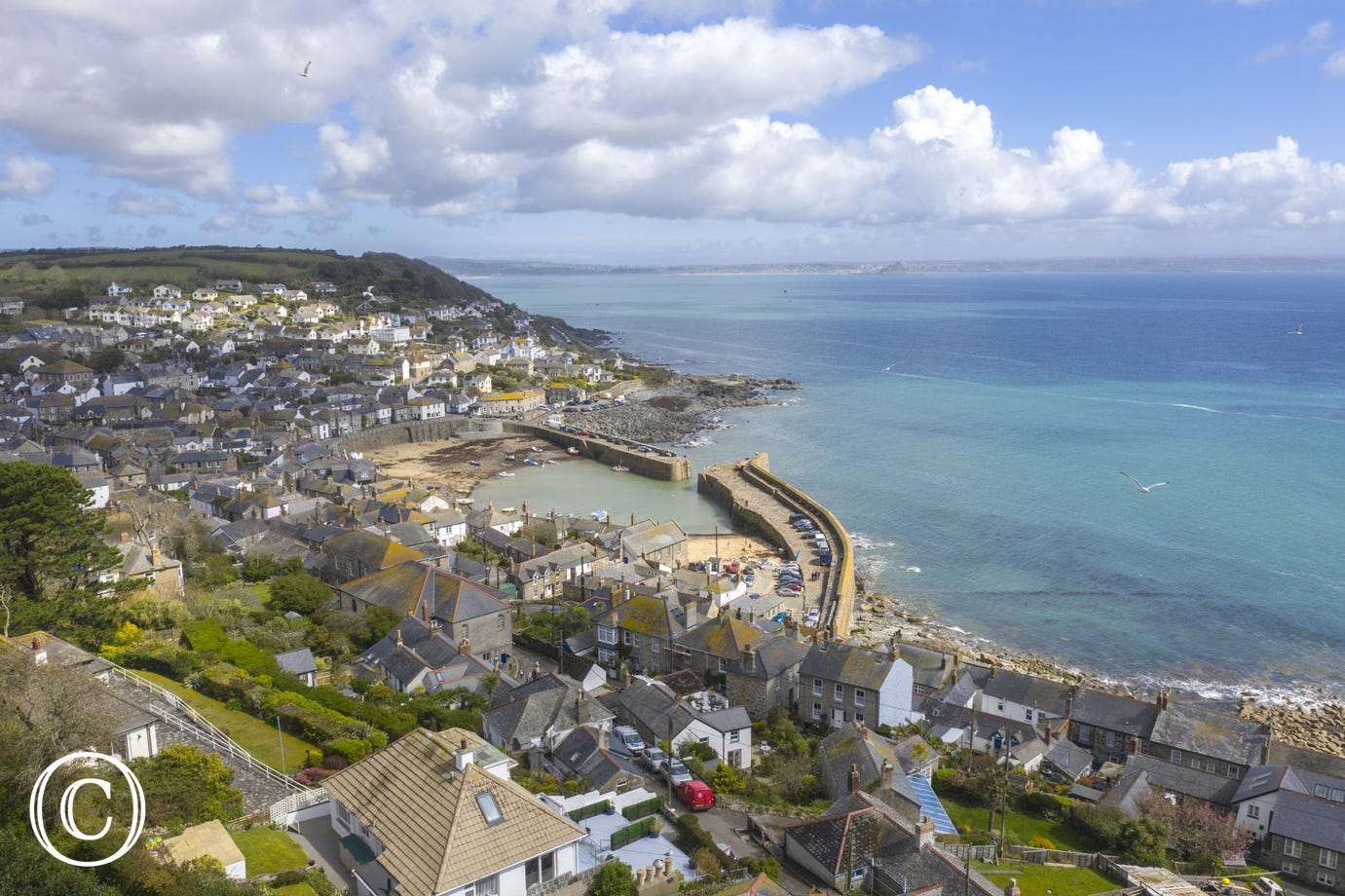Aerial photo of Mousehole