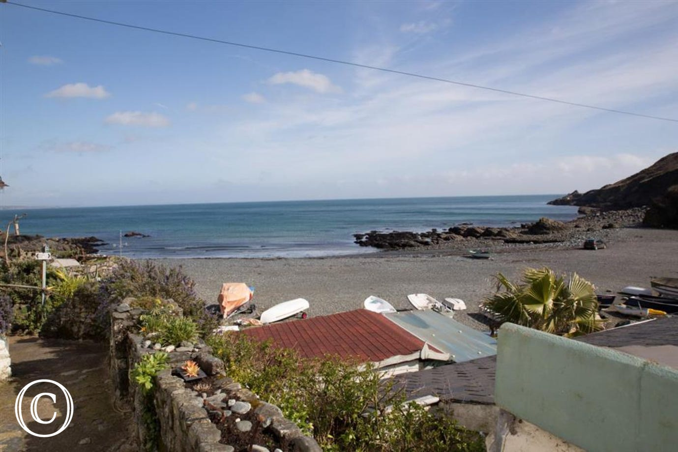 Bank Cottage Porthallow beach