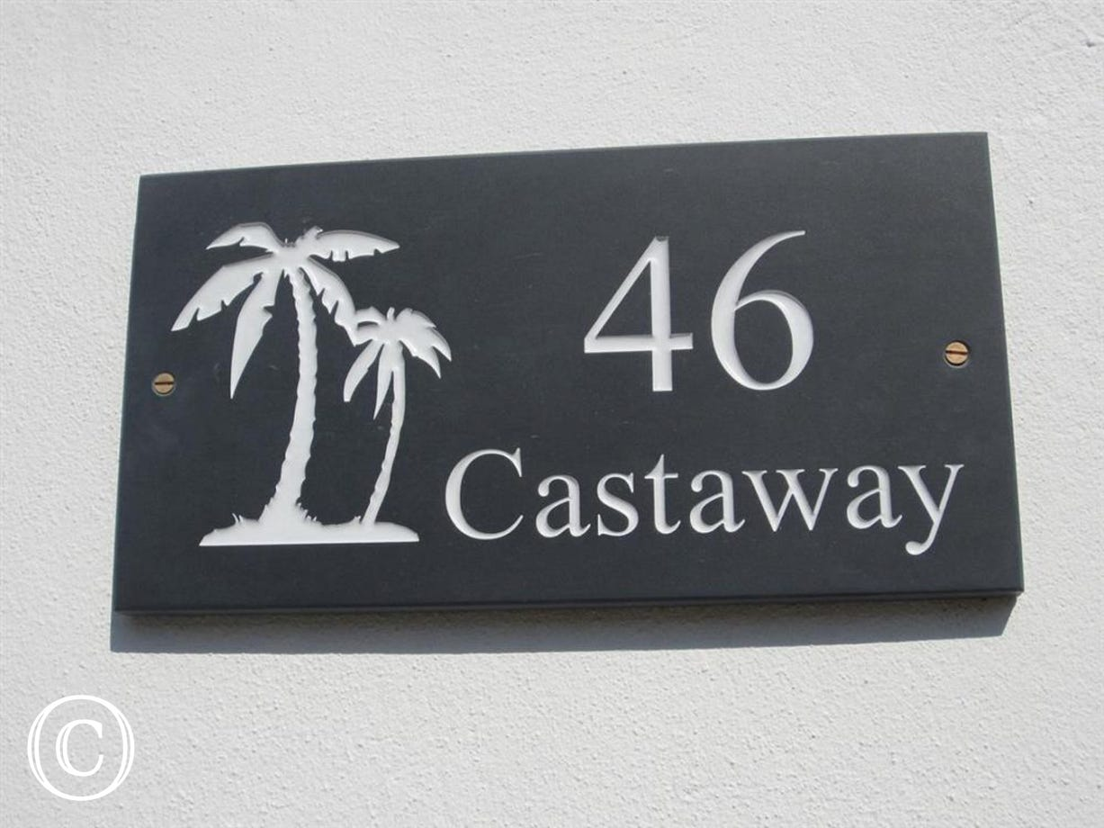 Castaway house sign