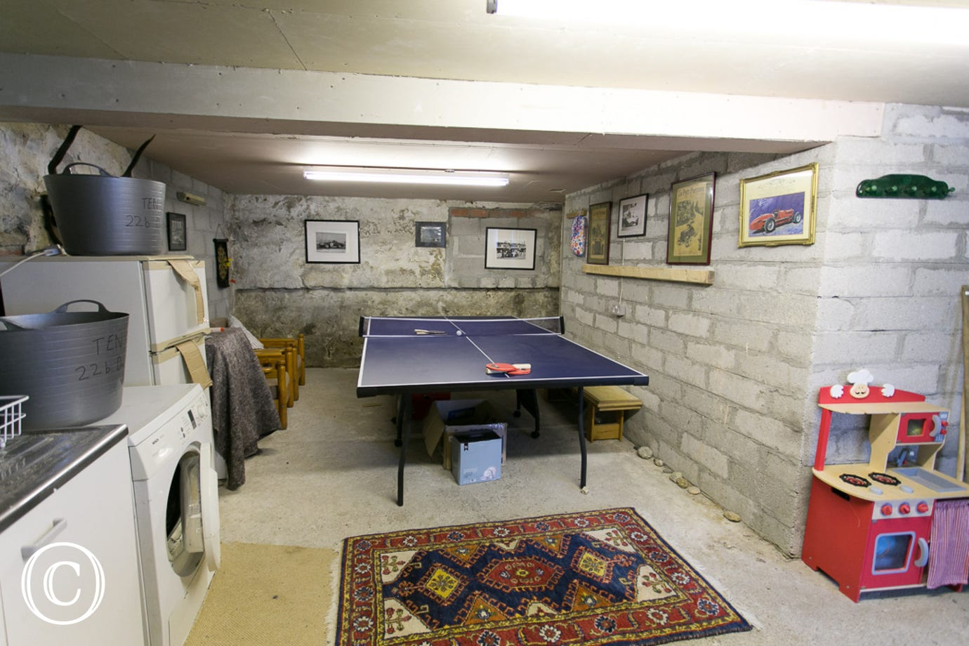 Utility and games room