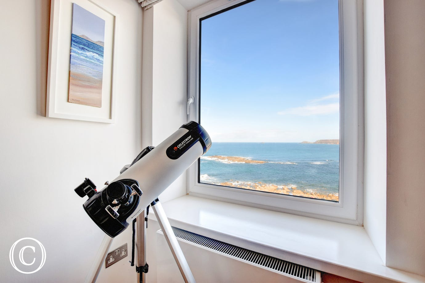 Telescope great for starry nights at The Look Out