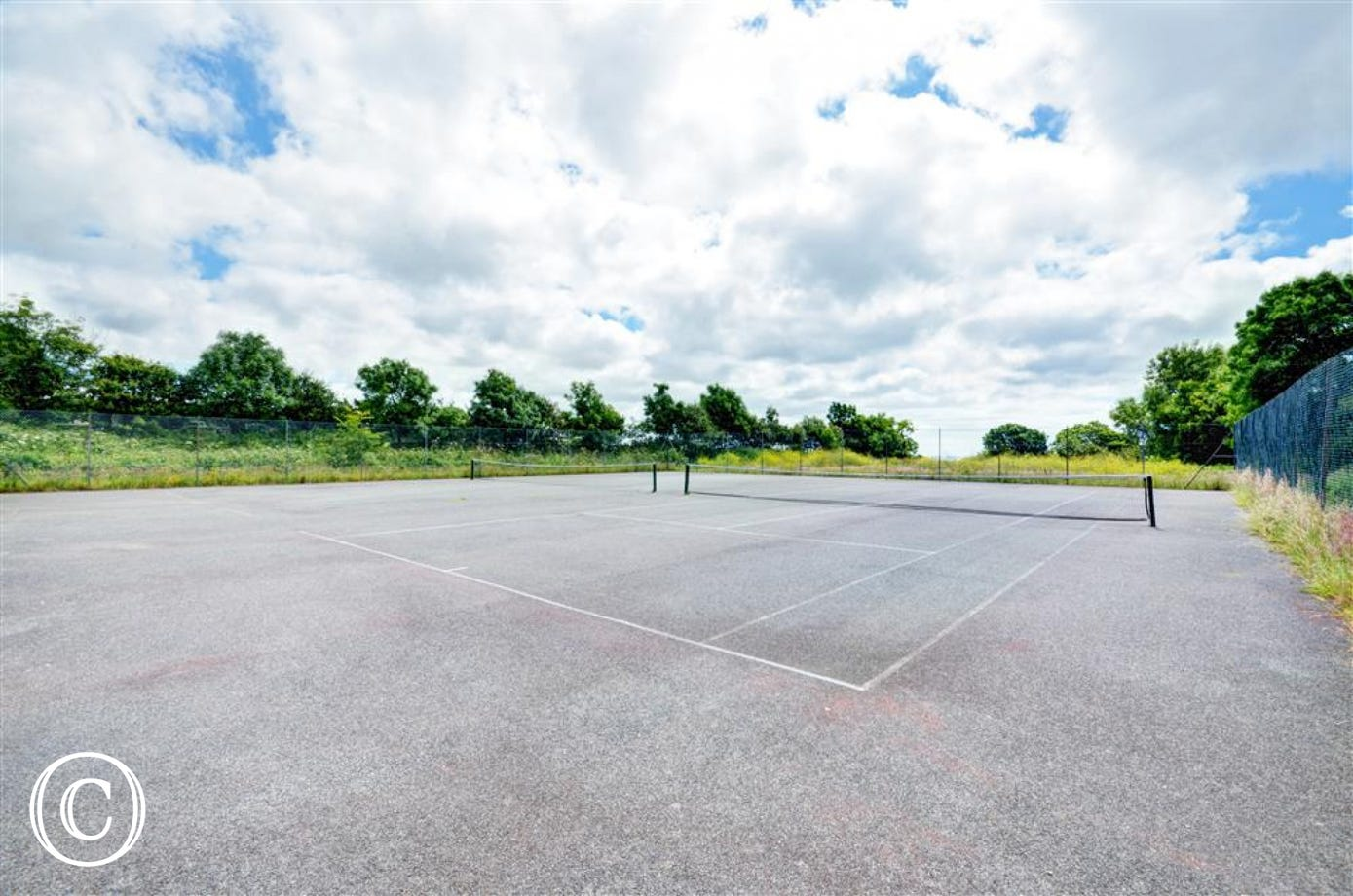 Tennis courts on Kenegie manor site