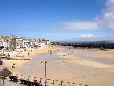 Stunning views of St Ives Harbour from Copper Kettle lounge