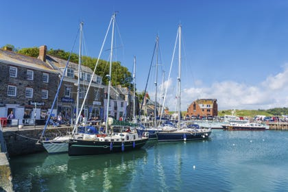 The beautiful harbour at Padstow is just 4 miles away